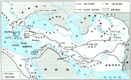 波斯帝国强盛时期的疆域