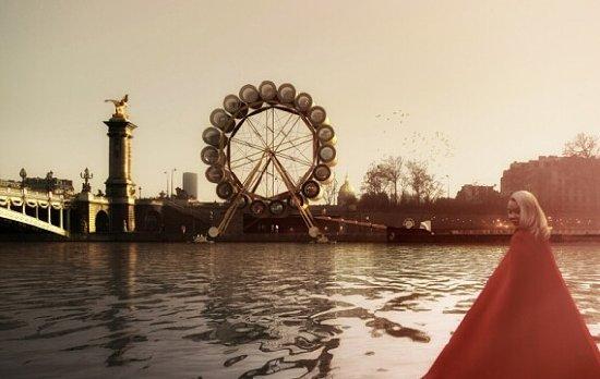 水上摩天轮旅馆打造法式浪漫