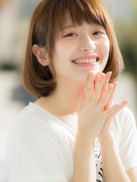 夏日清爽短发发型女 圆脸妹子最爱的发型