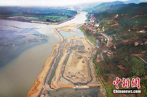 四川彭山江口沉银遗址发掘区场景。供图