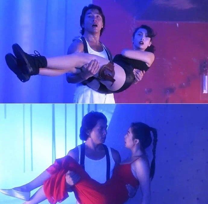 《城市猎人》里的王祖贤和邱淑贞 俏皮灵动堪称完美