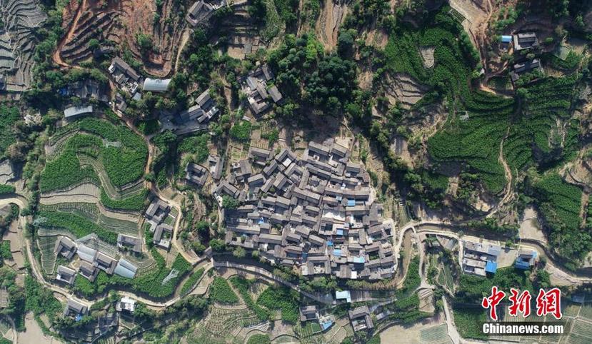 图为空中俯瞰德昌田园风景如画 刘忠俊 摄