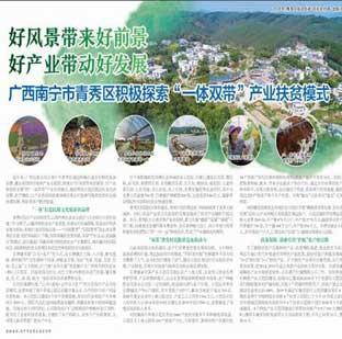 南宁市青秀区积极探索一体双带产业扶贫