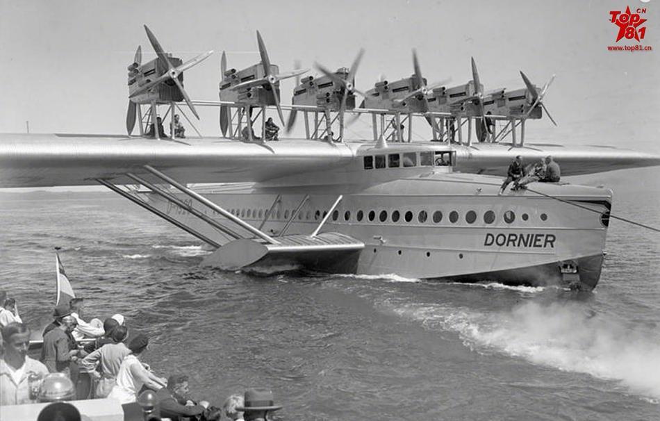 老照片:1929年的道尼尔do-x 水上飞机
