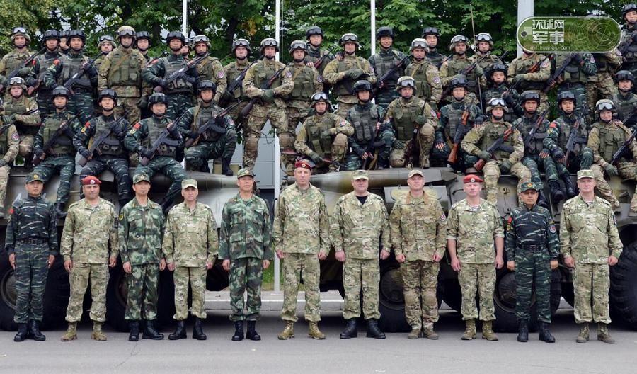 """绿意盎然.中国武警部队与白俄罗斯内务部内卫部队""""联合盾牌-图片"""