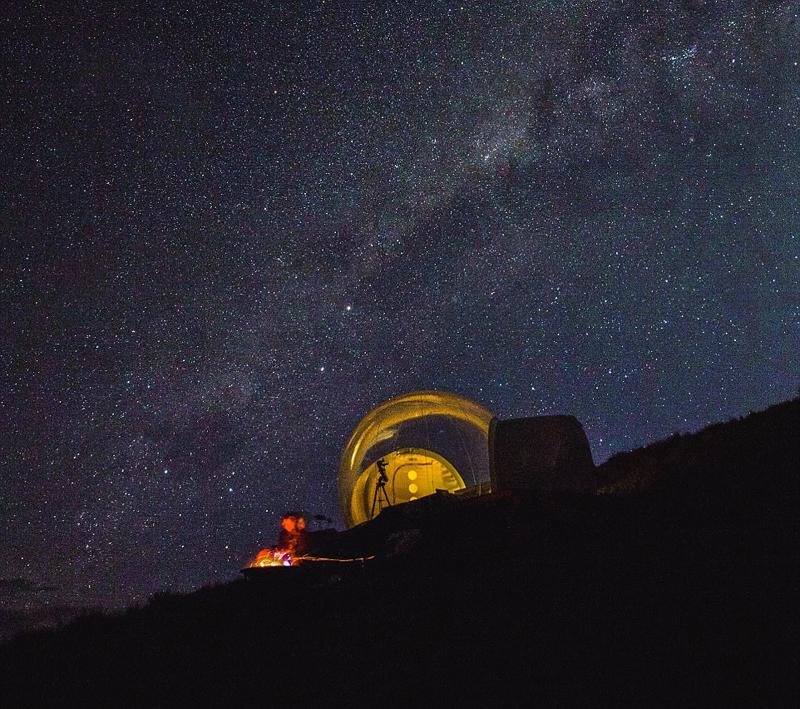 澳帐篷亲近情趣夫妇推出星空仰望内衣气泡紧身衣自然图片