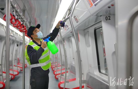 石家庄地铁:全面消杀为恢复运营做准备图片