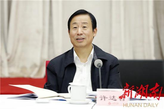 省委副书记、省长许达哲讲话。以上图片均为湖南日报·华声在线记者 罗新国 摄