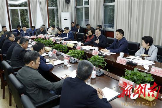 杜家毫一行与湖南师大师生座谈。以上图片均为湖南日报·华声在线记者 罗新国 摄