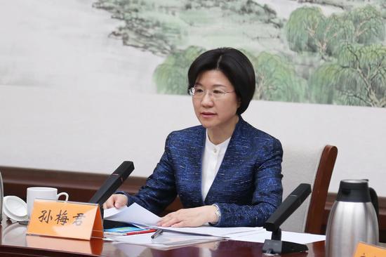 新任北京市委常委孙梅君已任市委统战部部长图片