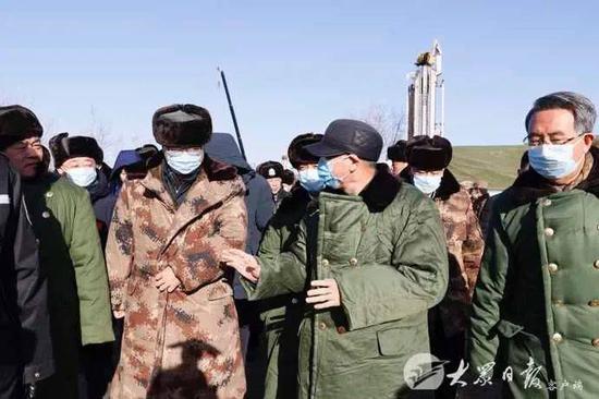 刘家义在栖霞笏山金矿爆炸事故现场指挥救援工作图片