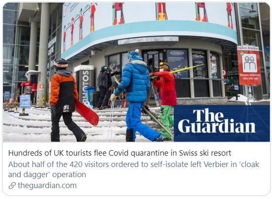 """不愿隔离,数百名英国滑雪者""""跑""""了"""