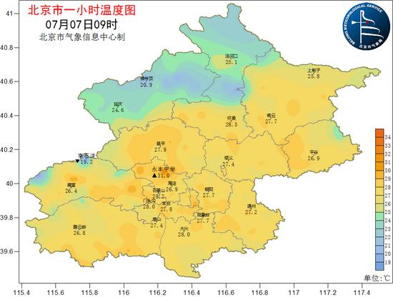 湿度增大,北京今明两天午后局地有雷雨