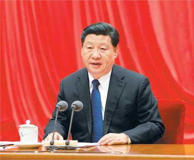 2016年1月12日,习近平在中国共产党第十八届中央纪律检查委员会第六次全体会议上发表重要讲话。(图片来源:新华社)