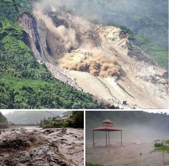 尼泊尔遭暴风雨袭击引发洪水 超过50人失踪