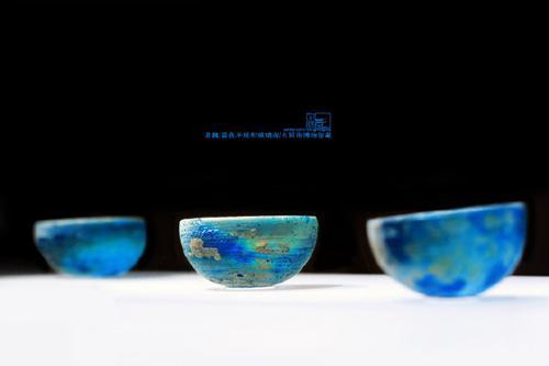 大同市博物馆 北魏 蓝色半球形玻璃泡。来源:受访者供图