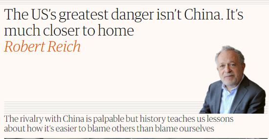 """讲真,美国最大的""""威胁""""不是中国"""