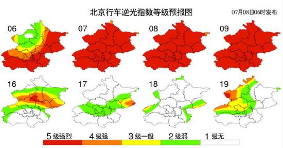 北京今天最高气温33℃,逆光指数强烈,开车注意安全