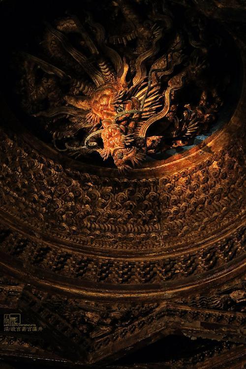 故宫博物院 斋宫藻井。来源:受访者供图