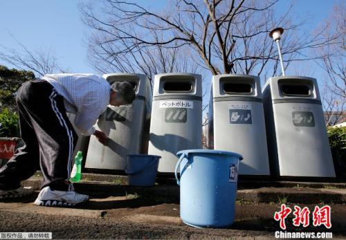 资料图:日本垃圾分类桶