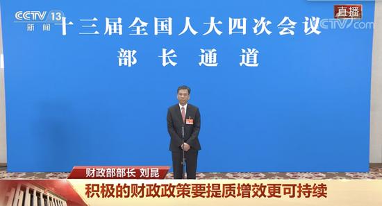 刘昆:财政政策保持基本稳定,不急转弯图片