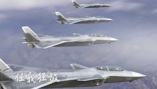 中航工业前不久发布的纪念歼-20首飞10年的宣传片中出现的歼-20双座CG图