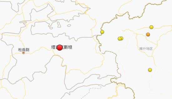 塔吉克斯坦发生6.4级地震 造成至少5人死亡
