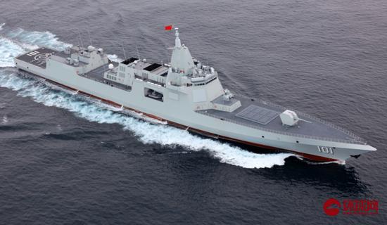 中俄舰艇编队在西太平洋进行联合航渡