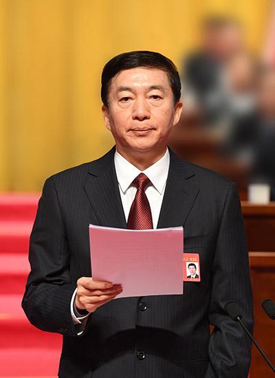 图为省委书记骆惠宁主持省十三届人大一次会议。山西日报记者 李联军摄