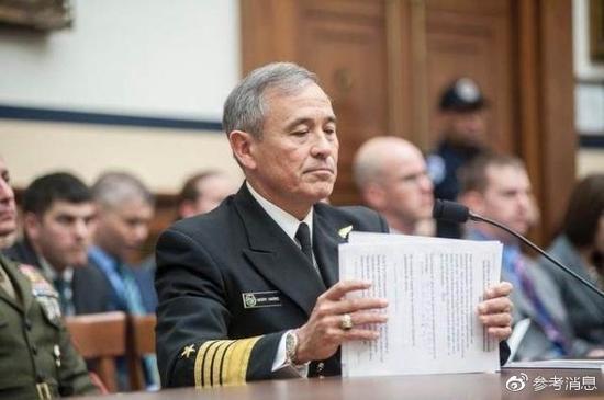 资料图:美国太平洋司令部司令哈里斯