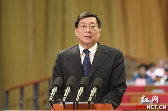 湖南省委书记、省人大常委会主任杜家毫发表讲话。