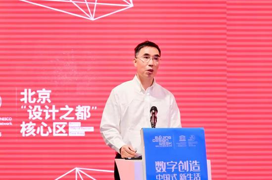 中国轻工工艺品进出口商会副会长李文锋致辞
