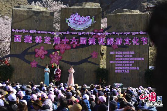 西藏林芝第十六届桃花旅游文化节开幕(摄影 舒珺)