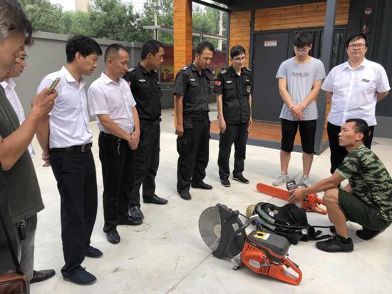 石景山消防支队依托小型消防站开展消防培训