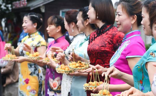 江南古镇枇杷丰收 民俗展演助力乡村旅游