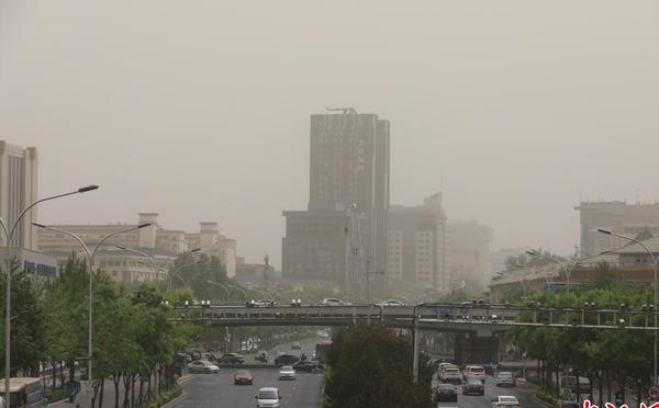 阵风9级!北京遭大风沙尘天气