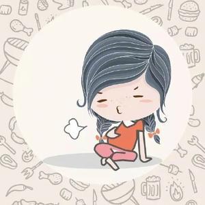 吃撑可爱卡通图片