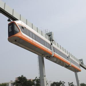 """【青岛""""空中列车""""试运行 载500人最高时速可达70公里"""