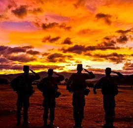夕陽無限好 最美在軍營!