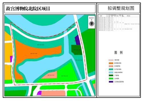 故宫博物院北区拟规划图。图片来源:北京市规土委官网