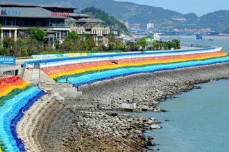 福建连江:彩虹堤坝美如画