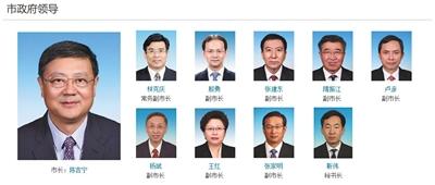 """北京市政府现有的""""一正八副一秘书长""""格局。"""