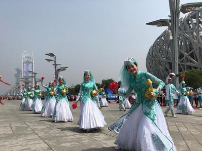 亚洲文明巡游表演在北京举行