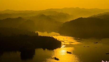 江西仙女湖冬日巨网首捕12.5万斤有机鱼