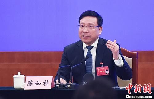 资料图:深圳市长陈如桂。 中新社记者 陈文 摄