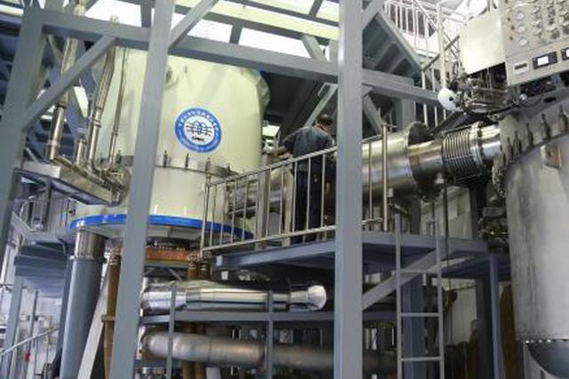 中科院合肥物质科学研究院强磁场中心自主研制的混合磁体装置。 钟欣 摄
