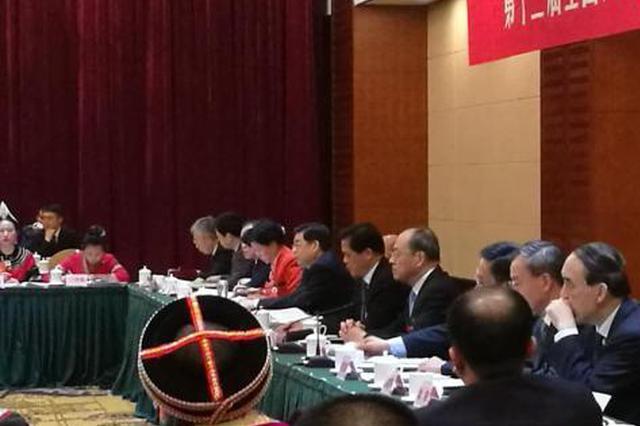 十三届全国人大一次会议云南代表团开放日现场。 胡远航 摄