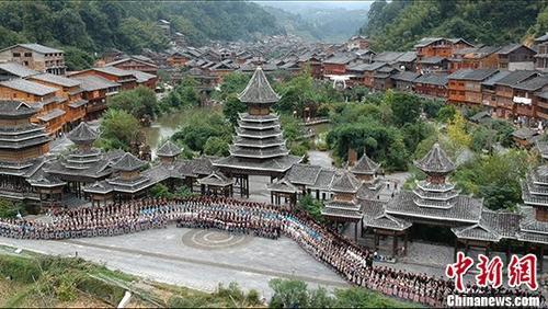 贵州省黎平县肇兴侗寨。 资料图 中新社记者 侯宇 摄