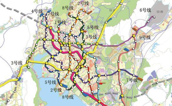 昆明地铁规划图