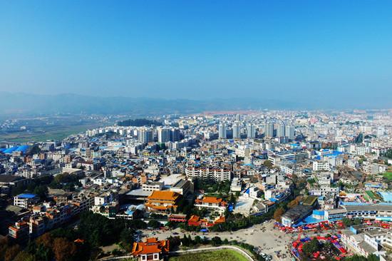 广南县城鸟瞰图